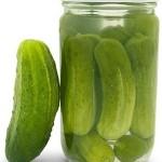 Pickles in a bottle