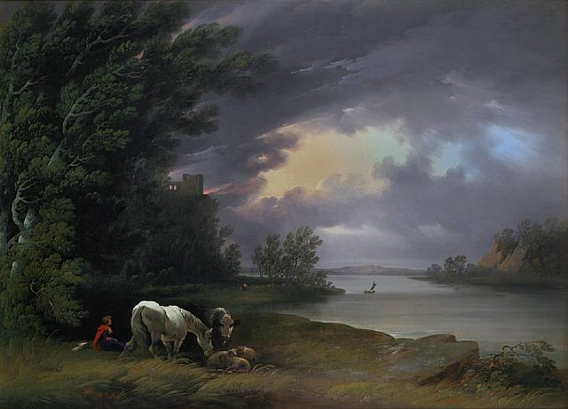 Joshua Shaw, 1818, oil on canvas, American Landscape