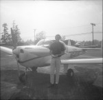 Gary and his training plane (it later crashed)
