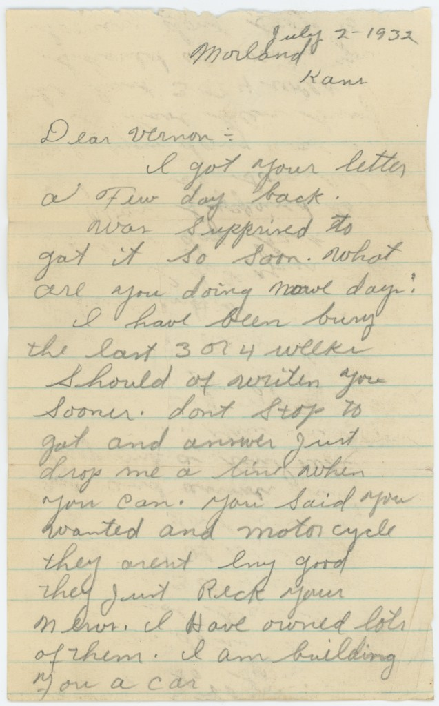 1932-07-02 Ray Shearer letter page 2