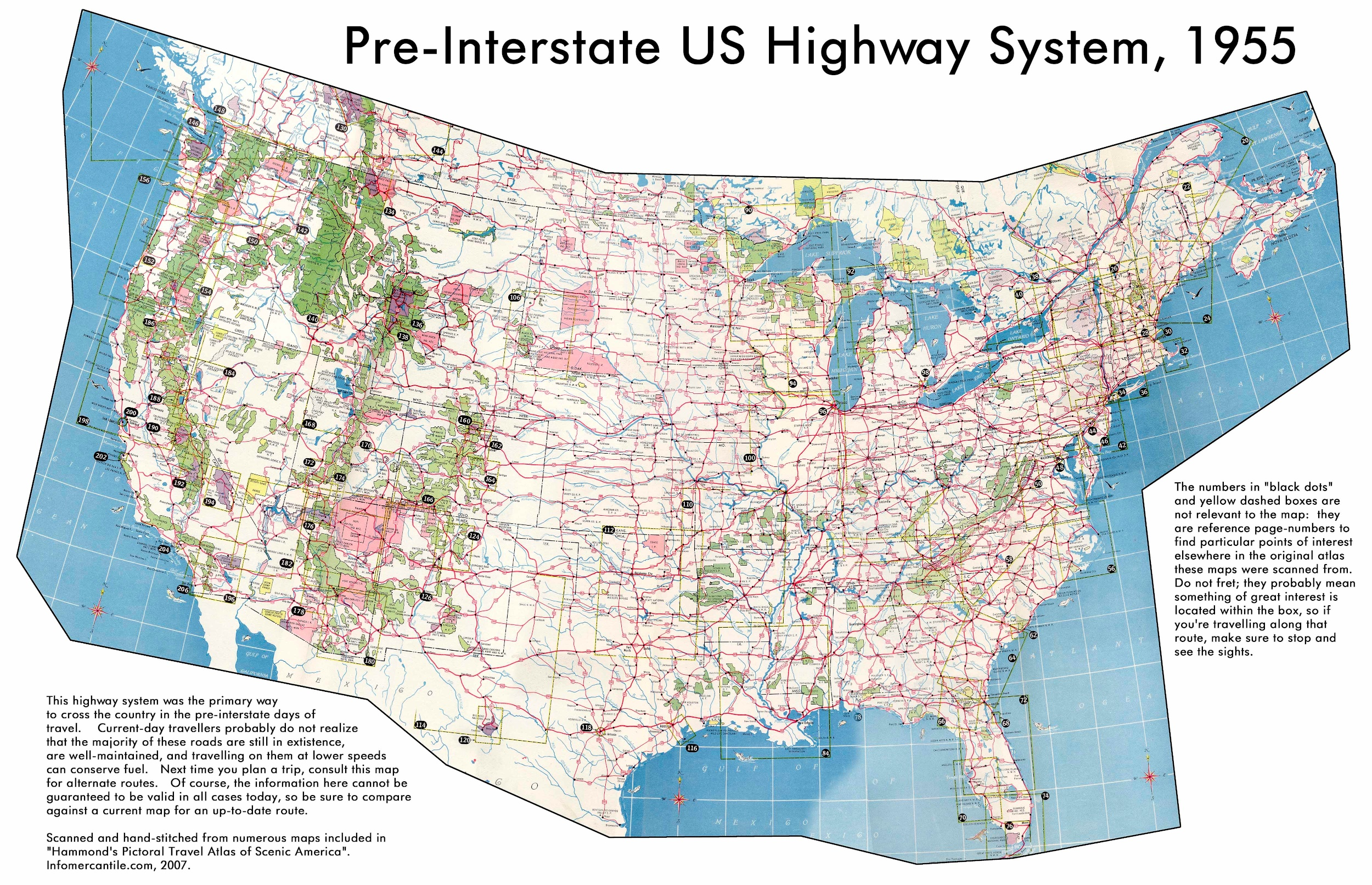 SFGAmWorldcom Park Maps California Great America CGA Discussion - Usa map with roads and cities