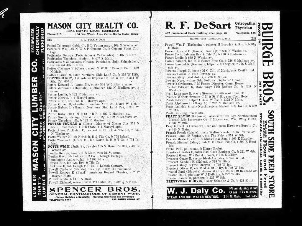 1915 G. Irvin Prettyman directory