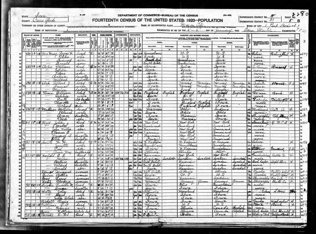 GI Prettyman 1920 census